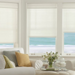 beautiful white living room shades - Southern California Window Coverings