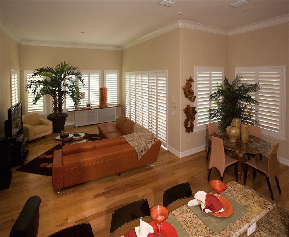 beautiful white shutters - shutters san diego