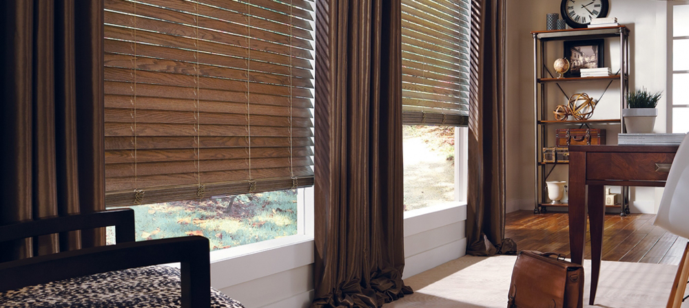 brown blinds and draperies - blinds san diego