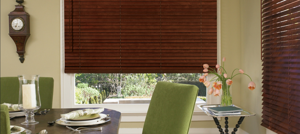 brown dining room blinds - Southern California Window Coverings