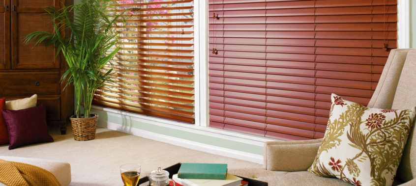 brown shutters - blinds san diego