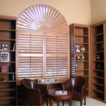 Brown Wooden Shutters - san diego blinds
