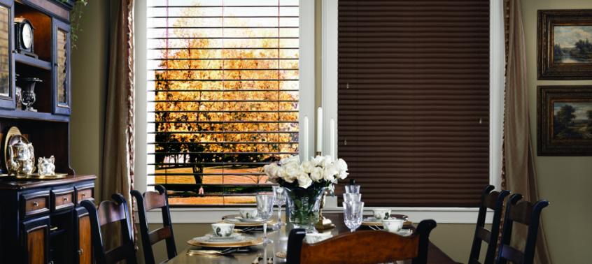 dark brown dining room blinds - blinds san diego