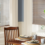 dining room shutters and draperies - blinds san diego