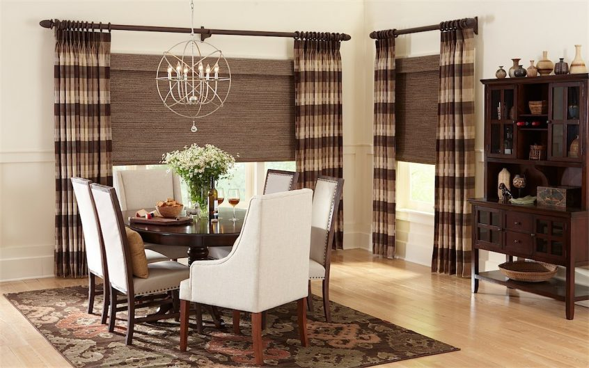 Draperies In Dining Room - Murrieta Draperies