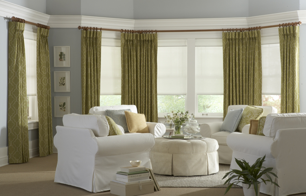 living room draperies and blinds - Southern California Window Coverings