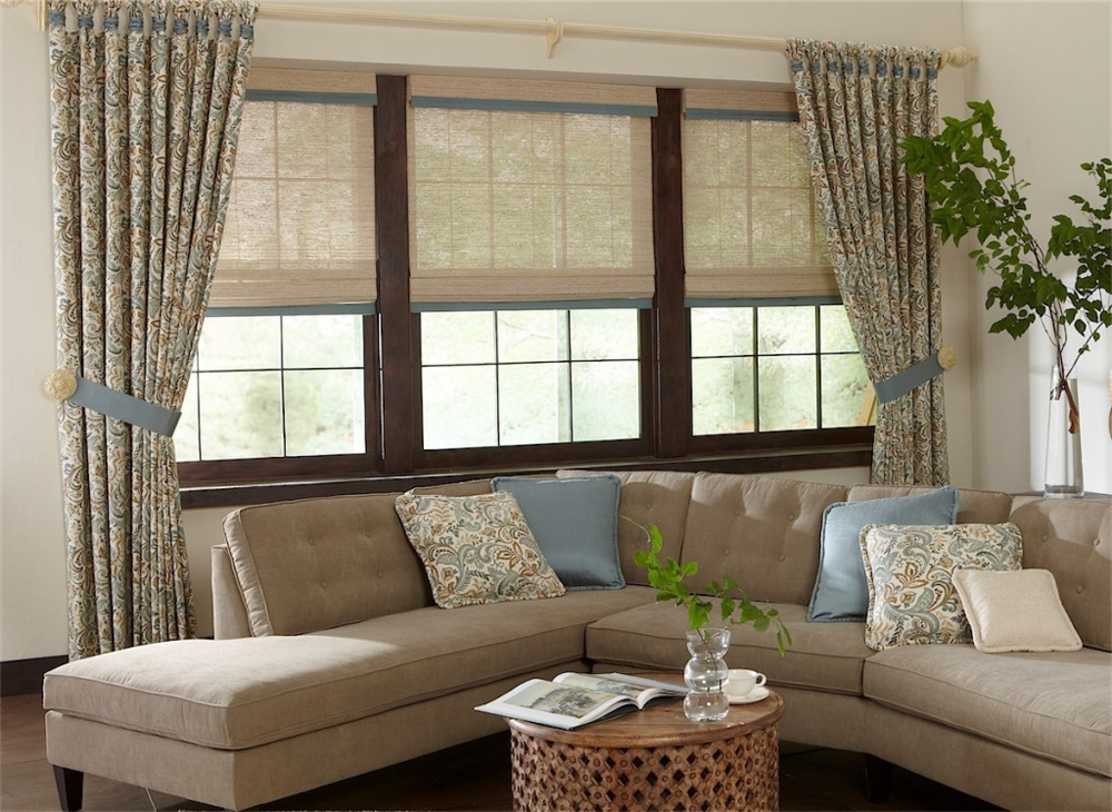 Living Room Draperies And Shades   Southern California Window Coverings