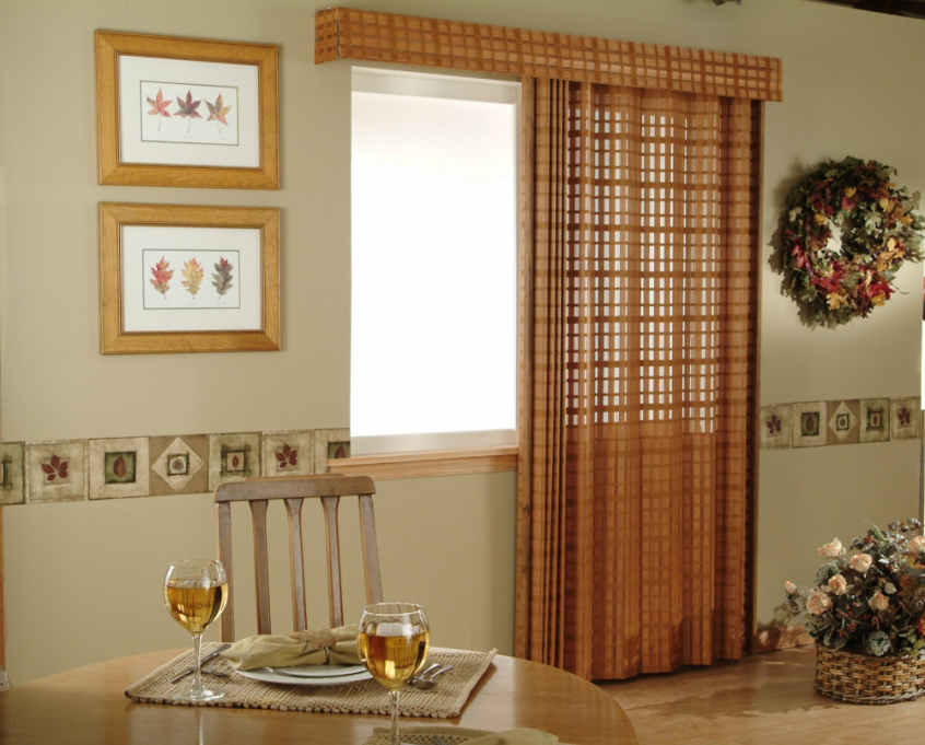 tan dining room draperies - Southern California Window Coverings