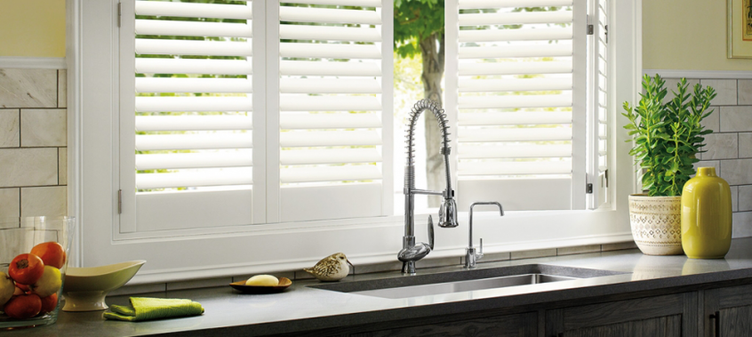 White Kitchen Shutters - shutters san diego