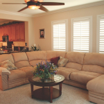 White Living Room Shutters -Southern California Window Coverings