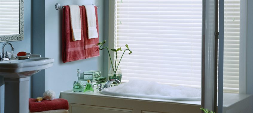 White Blinds In Bathroom - San Diego Blinds