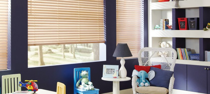 Tan Blinds In Kid's Room - San Deigo Blinds