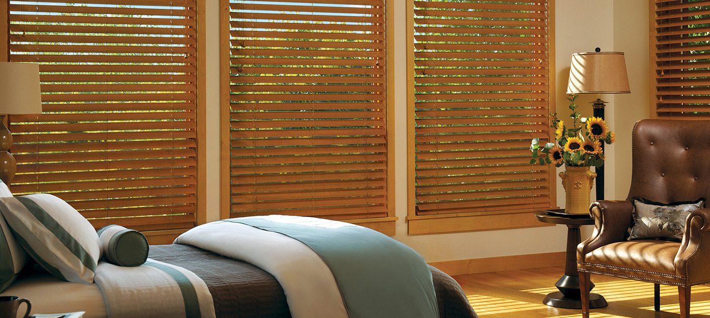 Brown Blinds In Bedroom - Temecula Blinds